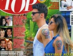 tatuaggio d'amore belen e stefano