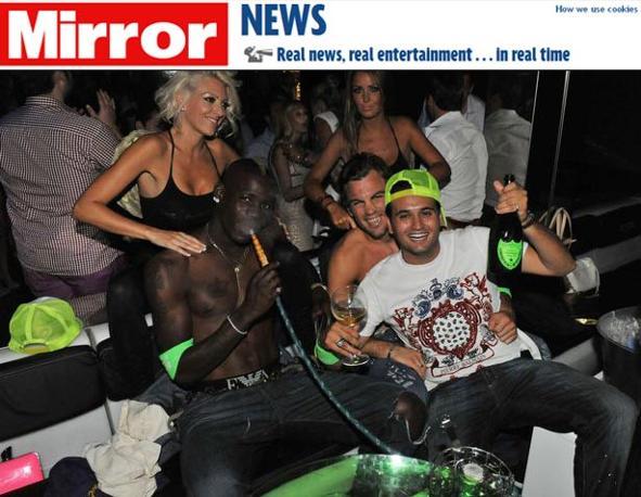 Mario Balotelli fumo e alcol senza la Fico