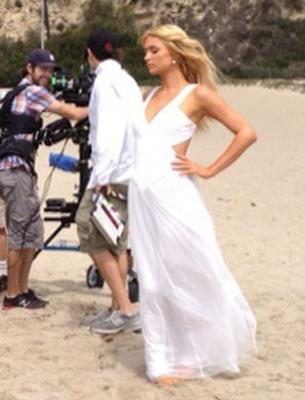 Paris Hilton Malibu spiaggia