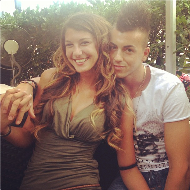Stephan El Sharaawy with Girlfriend Ester Giordano