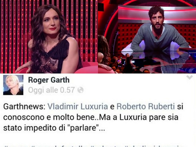 Grande Fratello 13 Roberto Ruberti Conosce Vladimir Luxuria Roger Garth News