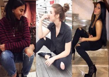 Chiara biasi, Martina Pinto, Mia Cellini, jeans strappati