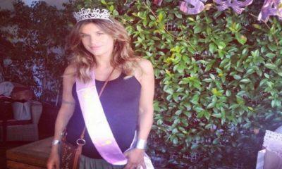 Elisabetta-Canalis-festa-figlia