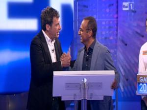 Fabrizio Frizzi e Carlo Conti insieme a L'Eredità
