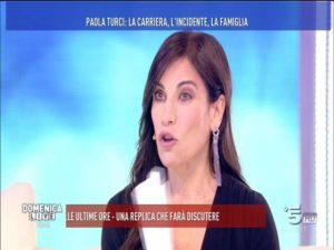 paola turci parla dell'incidente a domenica live