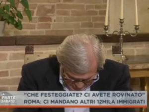 Vittorio Sgarbi si addormenta in tv