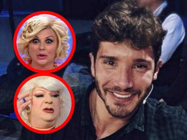 Stefano De Martino toccato da Tina e Platinette