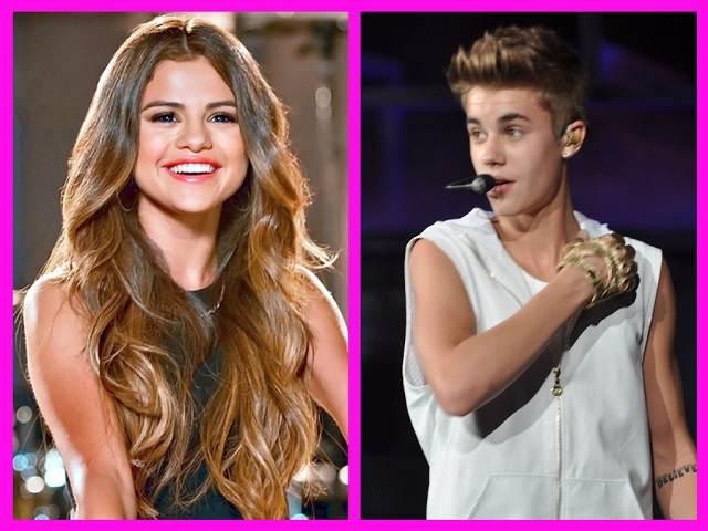 selena gomez Justin Bieber microfono