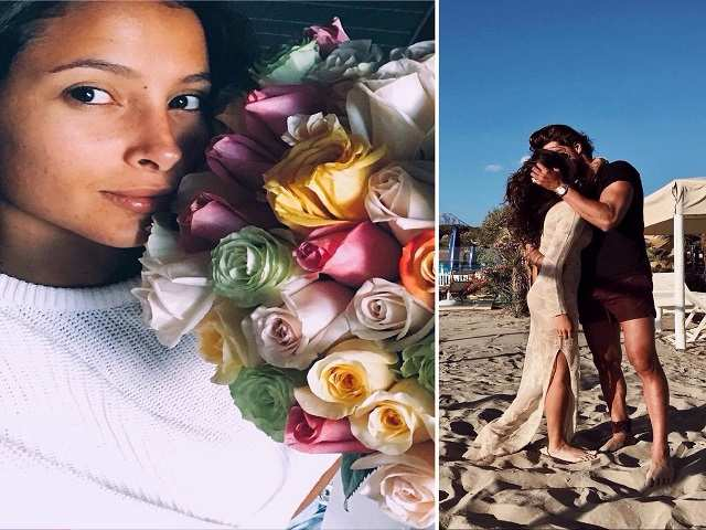 Simone Susinna e Mariana Rodriguez: gesti d'amore