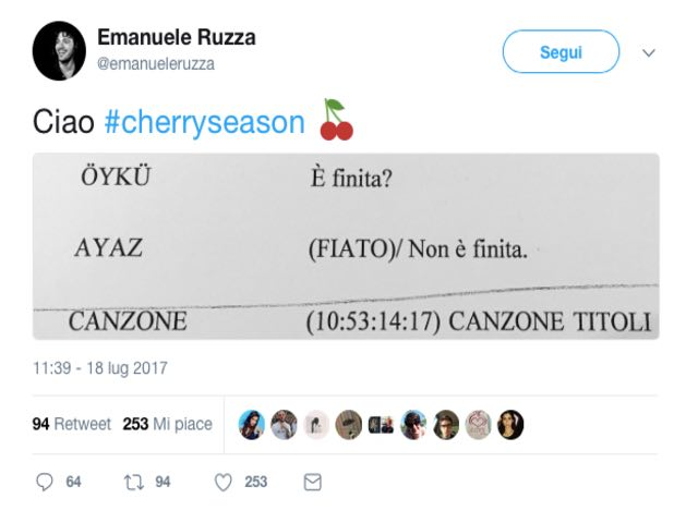 Cherry Season - Le ultime parole di Ayaz e Oyku
