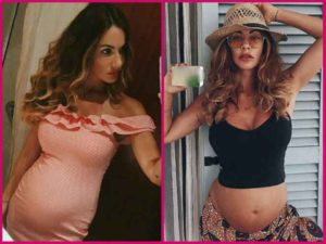 Melita Toniolo incinta al sesto mese di gravidanza