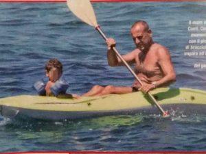 Carlo Conti col figlio Matteo, la foto di Vero