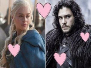 jon snow e daenerys game of thrones