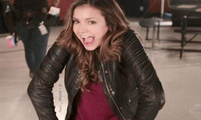 nina dobrev set the vampire diaries