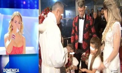 barbara d'urso piange al matrimonio di clemente russo
