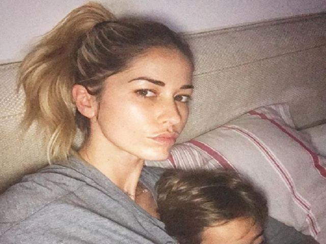 elena santarelli con figlio