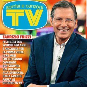 fabrizio frizzi in copertina sul tv sorrisi e canzoni