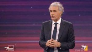 Massimo Giletti a Non è l'Arena su La7
