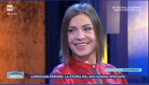 loredana errore piange a la vita in diretta 2018