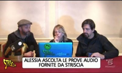 alessia marcuzzi ascolta le prove audio di striscia