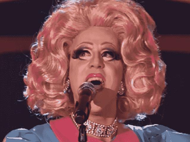 Foto di Francesco Bovino, drag queen a The Voice 2018