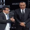 Foto Carlo Conti e valletto Lucio seconda puntata La Corrida 2018