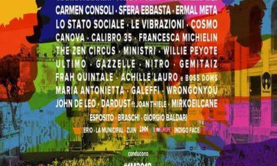 Foto elenco cantanti Concerto 1 maggio 2018 a Roma