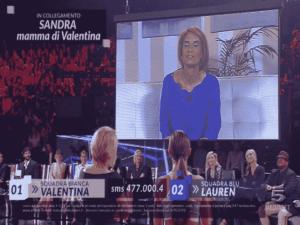 Foto sorpresa Valentina ad Amici 2018 Serale