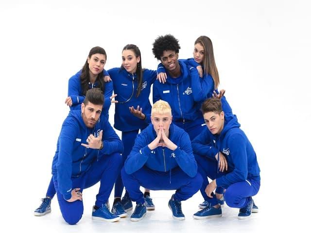 Foto della squadra Blu di Amici 2018 - Serale