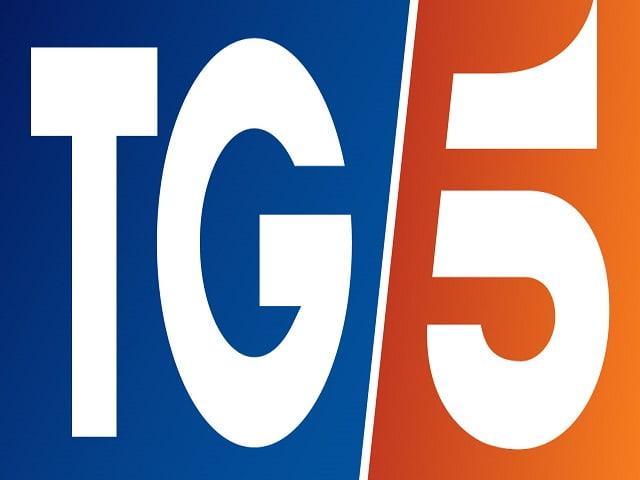Foto del nuovo logo del Tg5