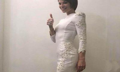 vestito bianco elisabetta franchi alessandra amoroso