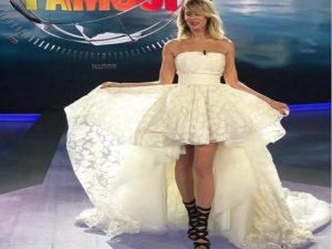 Alessia Marcuzzi vestito finale isola dei famosi