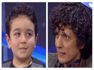 Foto bambino Giuseppe ed Ermal Meta ad Amici 17 Serale