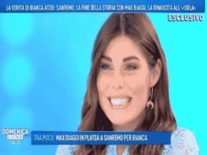 Foto Bianca Atzei ospite a Domenica Live 2018
