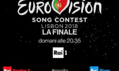 Foto frame promo finale Eurovision Song Contest 2018 su Rai1