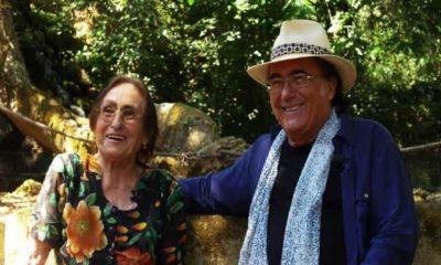 Foto Albano con la madre Jolanda Ottino