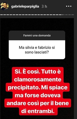 parpiglia instagram stories casa corona
