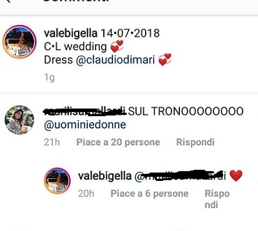 valeria bigella risposte follower
