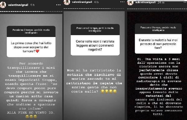 Valentina Vignali 11 agosto storie ig