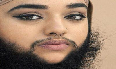 la ragazza con la barba
