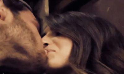 Nilufar Addati e Giordano Mazzocchi si baciano