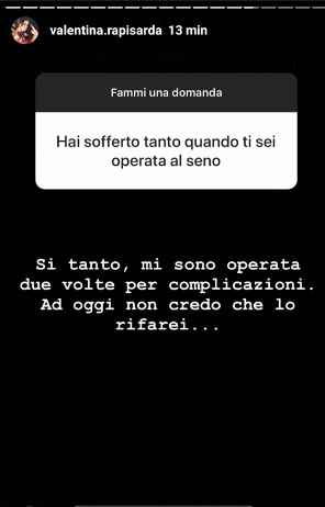 Valentina Rapisarda Instagram stories