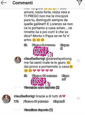 uomini e donne claudia corteggiatrice lorenzo riccardi messaggi social