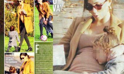 Federica Nargi incinta con la figlia Sofia