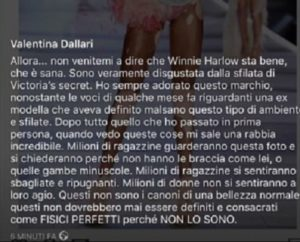valentina dallari contro victoria secret