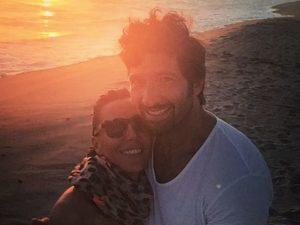 Walter Nudo insieme all'ex moglie Celine