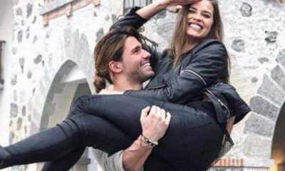 Luca Onestini e Ivana Mrazova in braccio