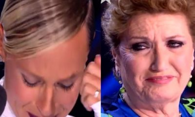 Federica Pellegrini in lacrime italia's got talent