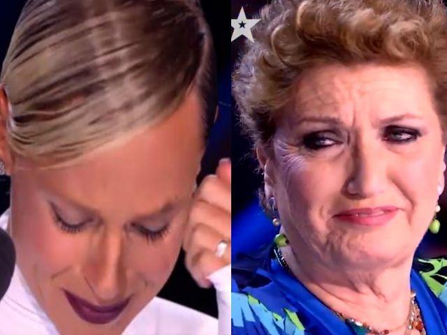 Federica Pellegrini in lacrime italia's got talent