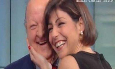 Massimo Boldi e Elena Coniglio a Storie Italiane